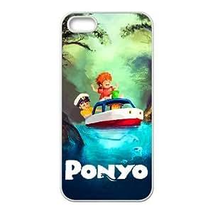 Generic for iPhone 5 5s Cell Phone Case White Ponyo Custom HAAFFGKGK3386