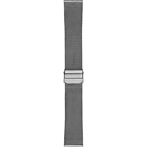 Skagen Men 22mm Stainless Steel Mesh Dress Watch Band, Color: Grey (Model: SKB6061)