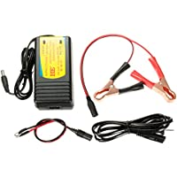 Funnytoday365 12V Trickle Car Boat Motorcycle Rvs Digital Automatic Battery Float Charger