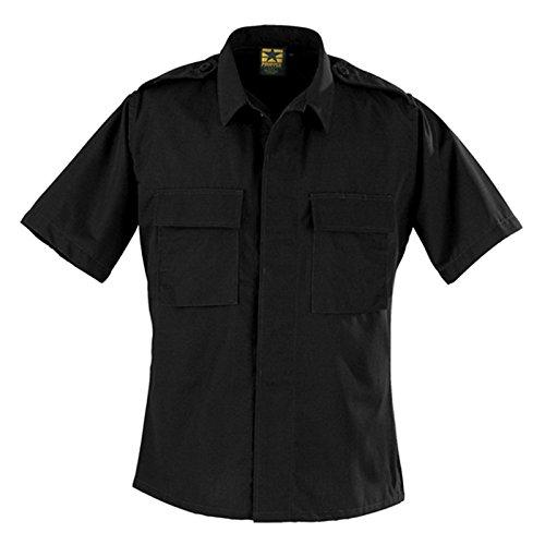 Pocket 2 Bdu (Propper BDU 2-Pocket Shirt Short Sleeve,Black,US 4XL)