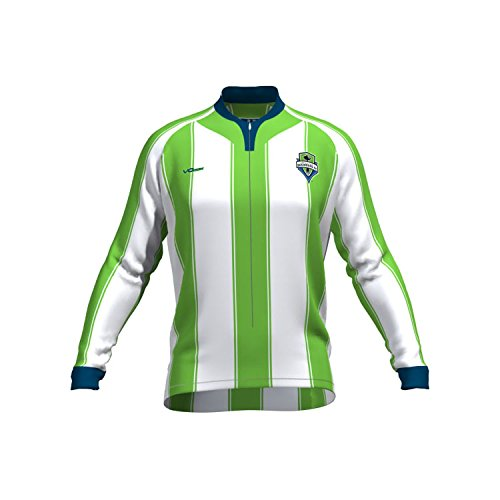 MLS Seattle Sounders FC Women's Original Striped Long Sleeve Cycling Jersey, X-Large, White