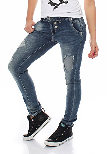 Bm1505Longueur Monkey Jeans Pour Jean Lilly 32 Bleu Blue Femmes Pantalon E29IYWDH