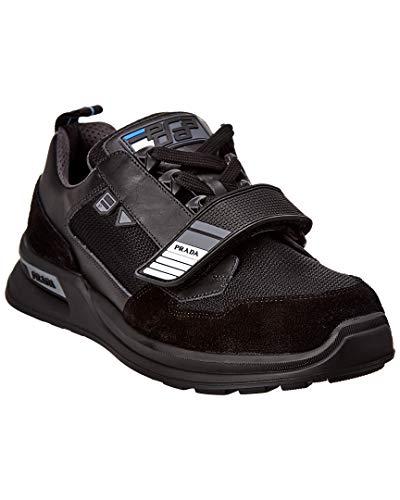 Prada Mechano & Technical Leather Sneaker, 7.5, Black