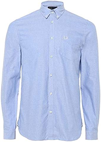 Fred Perry - Camisa de Manga Corta, Color Gris Claro: Amazon.es ...