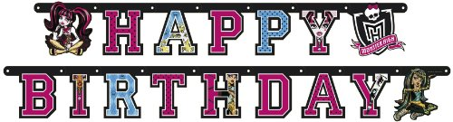 Monster High Party - Happy Birthday Letter Banner]()