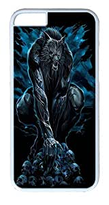 """iPhone 6 Case - Scratch Protection Ultra Slim Fit Hard PolyCarbonate White Plastic Case for Apple iPhone 6 (4.7"""") with Pattern: Werewolf Rising"""