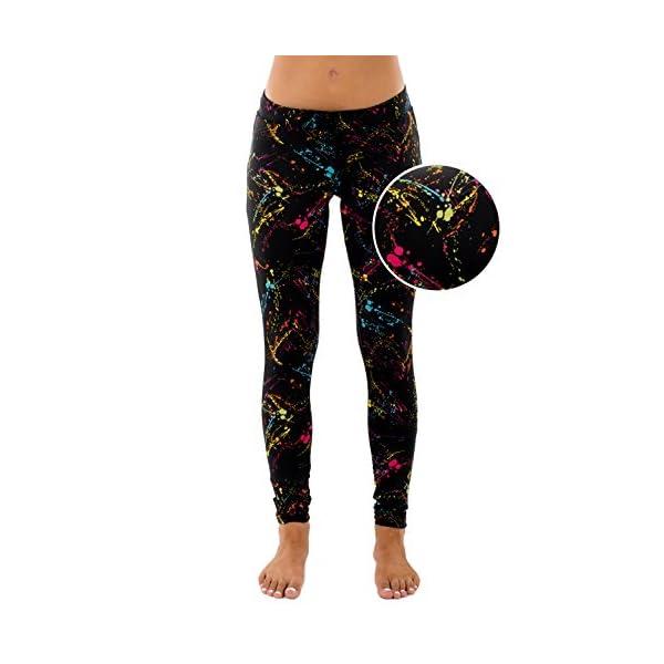 Splatter Neon Leggings – Neon Retro Rainbow Tights for Women