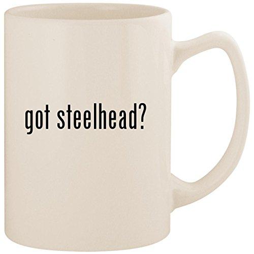 got steelhead? - White 14oz Ceramic Statesman Coffee Mug Cup