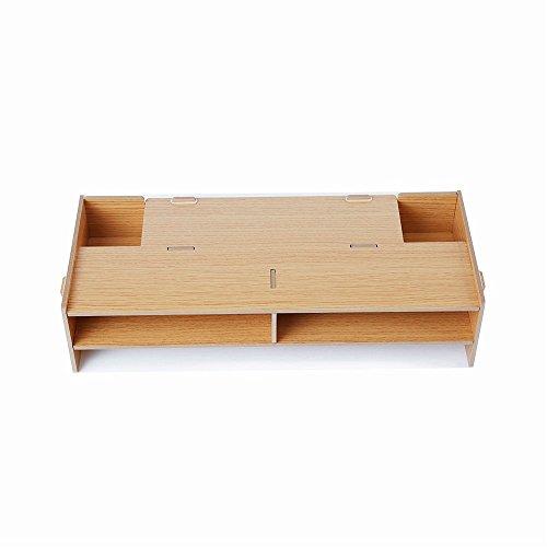 AZlife Wooden Monitor Stand, Desktop Monitor Riser TV Stand, Printer Stand