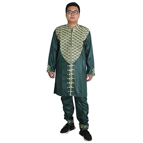 H D African Traditional Bazin Riche Getzner Guinea Clothing Dashiki Embroidery Pattern Fashion Wear for Mens