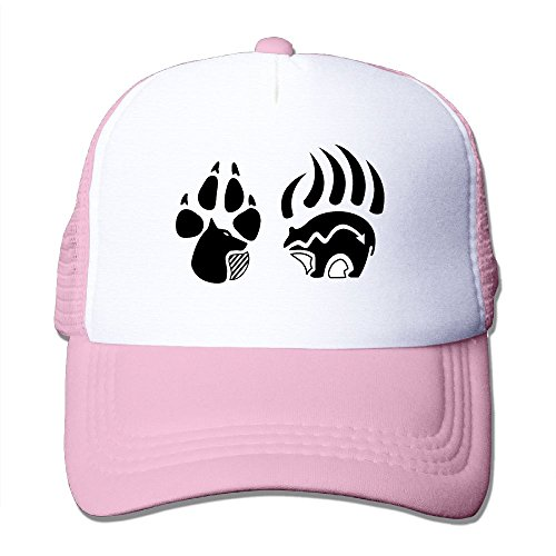 (Native American Bear Paw Mesh Male Cute Trucker Baseball Hats)