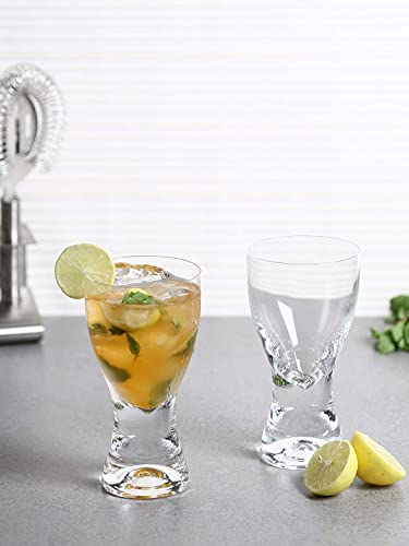 Bohemia Crystal Juice   Glass Set, Non Lead Crystal Samba Juice Glass  200 ml  set of 6 Pcs