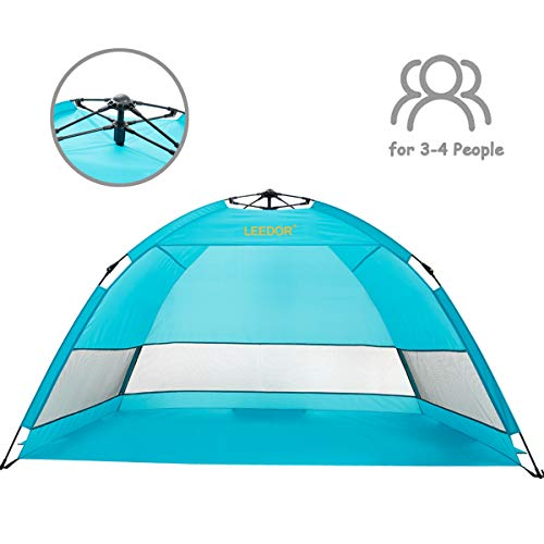 Leedor Outdoor Instant Automatic Pop Up Beach Tent Sun Shelter with SPF 50+ UV Protection for Kids Family(Quick-Up-System)
