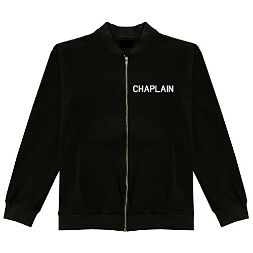 Christian Chaplain Bomber Jacket X-Large Black by Kings Of NY