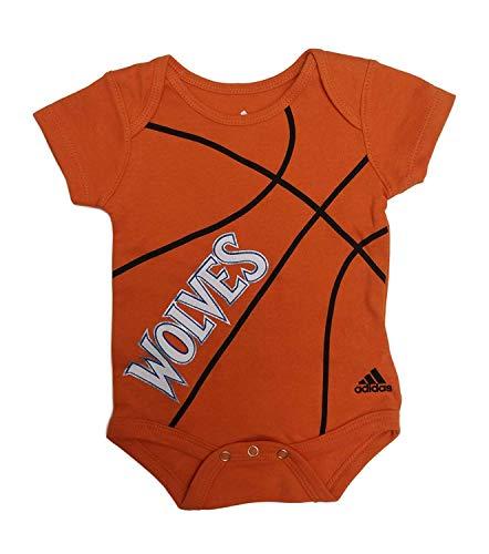 adidas Timberwolves Basketball Fanatic Bodysuit Creeper - Orange (3-6 - Basketball Adidas Onesie