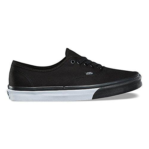 Vans Authentic (Mono Bumper) Fashion Sneakers Black/True White Size 9.5 Men/11 Women qvUM3dP