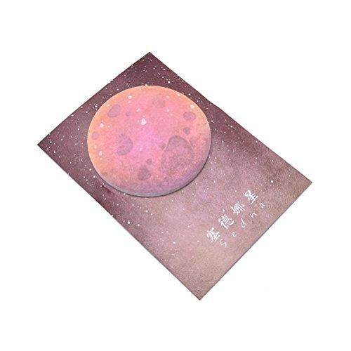 MONOMONO-1Pc Planet Memo Pad Notebook Sticky Note Portable School Stationary - Mall Square Hamilton