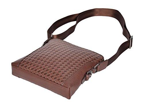 Cross Crossbody Bury Top Unique Work Brown Quality Leather Bag Flight Braided qAxrEA0