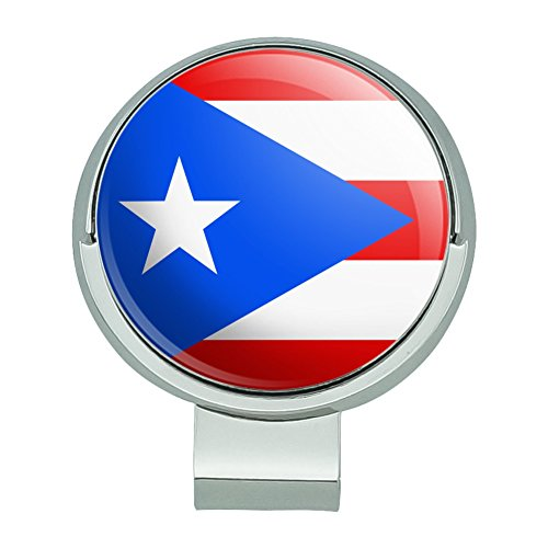 (GRAPHICS & MORE Puerto Rico Country Flag Golf Hat Clip with Magnetic Ball Marker)