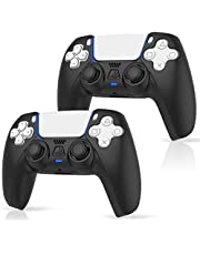 2 Pack ProCase PS5 Controller Skin, Slim Anti-Slip Silicone Protector Cover Shock-Absorption Anti-Scratch Case for Playstation 5 DualSense Controller 2020 -Black [video game]