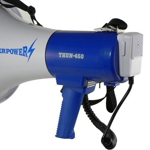 Extra Loud Megaphone - ThunderPower 450 - 35 Watts of Power by ThunderPower