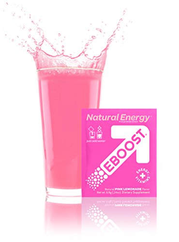 EBOOST Natural Energy Порошок, розовый лимонад, 20 пакетов