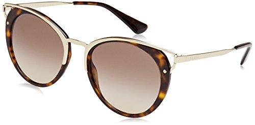 (Prada Women's 0PR 66TS Havana/Brown Gradient Sunglasses)