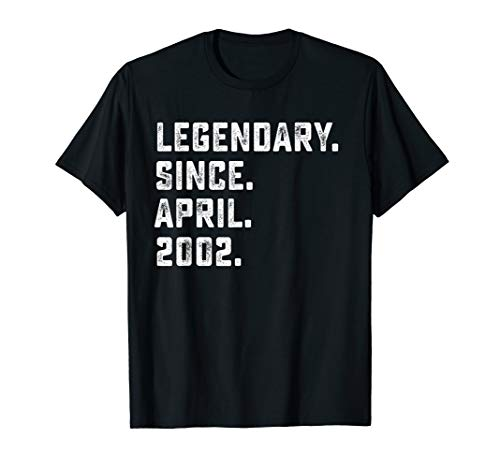Legendary Since April 2002 17th Years Old Birthday Shirt]()
