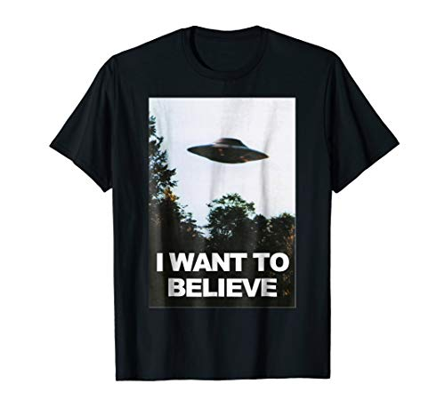Alien UFO Hunter Shirt I Want To Believe T-Shirt (I Tshirt Xfiles To Believe Want)