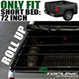 Topline Autopart Roll Roll-Up Soft Truck Bed Topper Cap V...