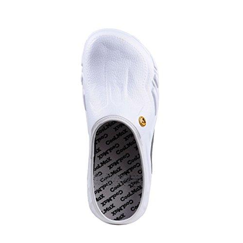 Hsm Esd Weiß Blanc Confort En Phylon Mules Femme Wellness SrfwqS