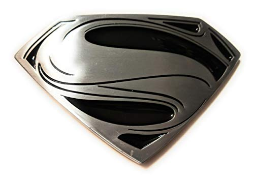 Shield Logo Belt Buckle - SUPERMAN MOVIE S SHIELD Logo belt buckle Antique Silver Color Classic DC comics 4 inch SuperGifts