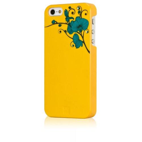BlingMyThing ai5-od-yl-blz Orchid Case mit Swarovski Steinen für Apple iPhone 5 gelb