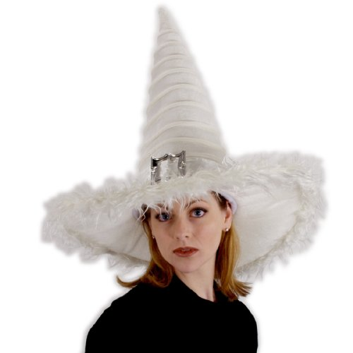 Witch From Snow White Costumes (Elope Unisex Adult Good Witch Hat White)