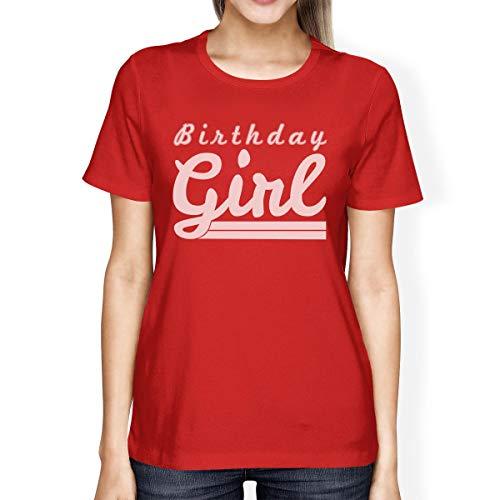 corta mujer One Birthday manga Printing Red 365 de Girl para Camiseta Size FzInx0