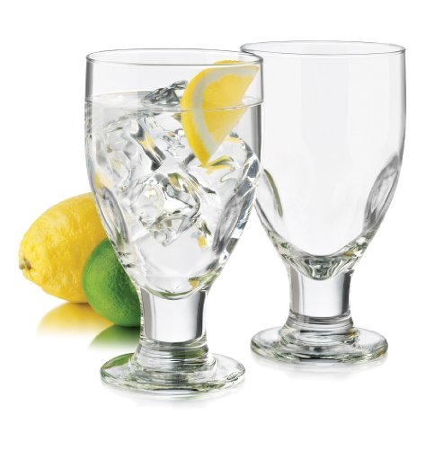 Libbey 4-Piece Impressions Goblet Glass, 17.5-Ounce, Clear -