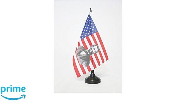 AZ FLAG Bandera de Mesa de los Estados Unidos con Abraham Lincoln ...
