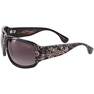 Ed Hardy EHS Rock Sunglasses Grey Horn