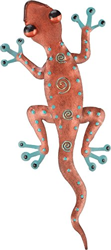 Regal Art & Gift Gecko Decor, 11-Inch Copper Tropical Gecko Lizard Wall
