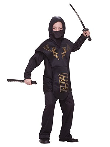 Assassin Costume For Sale (Forum Novelties Black Ninja Costume, Child Medium)
