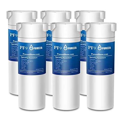 XWF Water Filter GE Refrigerator, Pureza filters NSF 42 Certified Compatible with Select GE french-door & Side by Side refrigerators, Replacement for GE XWF Genuine SmartWater (6 Pack)