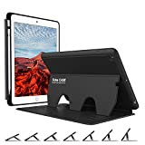 Soke Case,iPad 9.7 Case 2018/2017 with Pencil Holder [Luxury Series] - Extra Protective But Slim + Strong Magnetic + 7 Secure Stand Angles + Auto Sleep/Wake Cover for iPad 9.7 inch 5th/6th Gen, Black