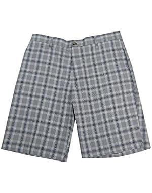 Men's Classic-Fit Flat Front Microfiber Shorts