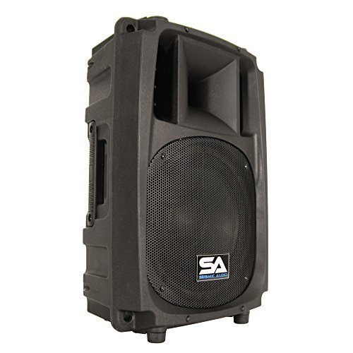 Seismic Audio L_Wave-10 Powered 2-Way 10-Inch PA/DJ Molded Speaker Cabinet Active 200-Watt Loudspeaker Cabinet [並行輸入品] B076Z19VDY