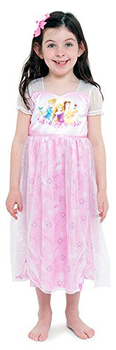 Disney Girls' Big Multi-Princess Fantasy Gown, Sweet Pink,