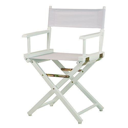 Casual Home 18'' Director's Chair White Frame with White Canvas by Casual Home