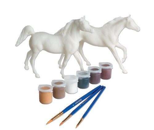 Breyer Paint Your Own Arabian and Thoroughbred Horse Craft Activity Set