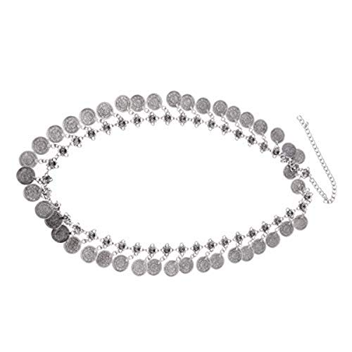 CHICTRY Bohemian Belly Dance Belt Vintage Coin Tassel Waist Chain Festival Costume Dress Jewelry Type C One -