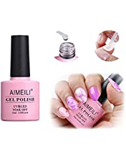 AIMEILI Nail Art Blossom Gel Nail Polish Soak Off UV LED Clear Blooming Gel Manicure 10ml