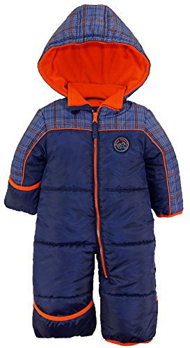 ixtreme-baby-boys-plaid-expedition-one-piece-puffer-winter-snowsuit-bunting-pram-navy-18-months